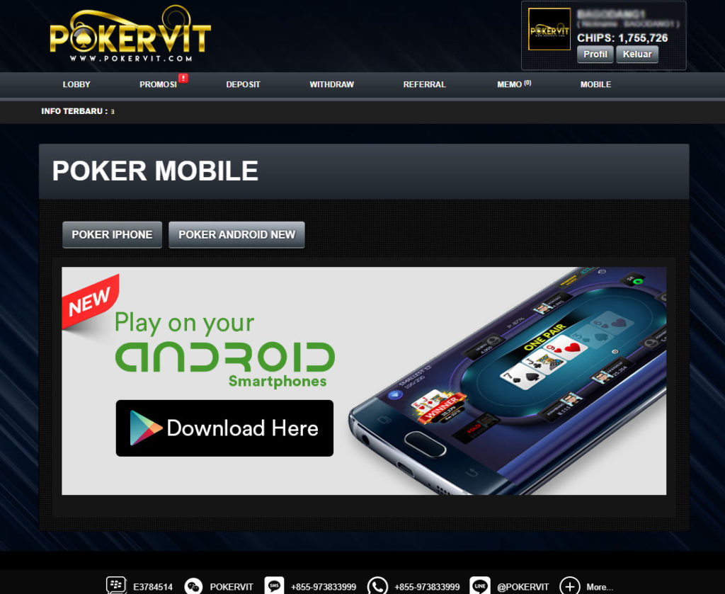 poker mobile android dan ios